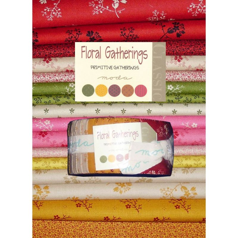 Floral Gatherings by Primitive Gatherings Jelly Roll