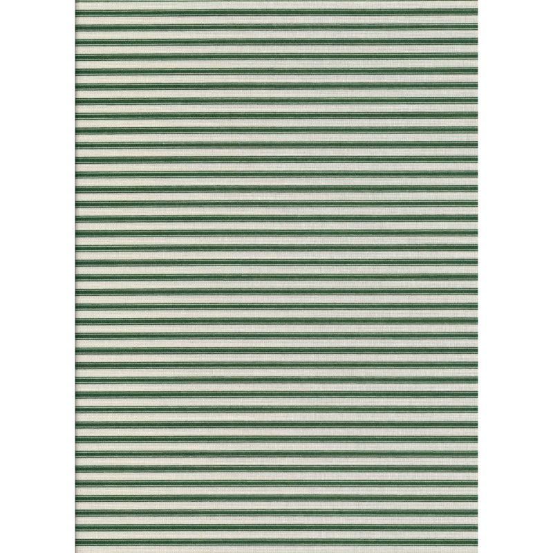 Ticking Stripe Forest Green