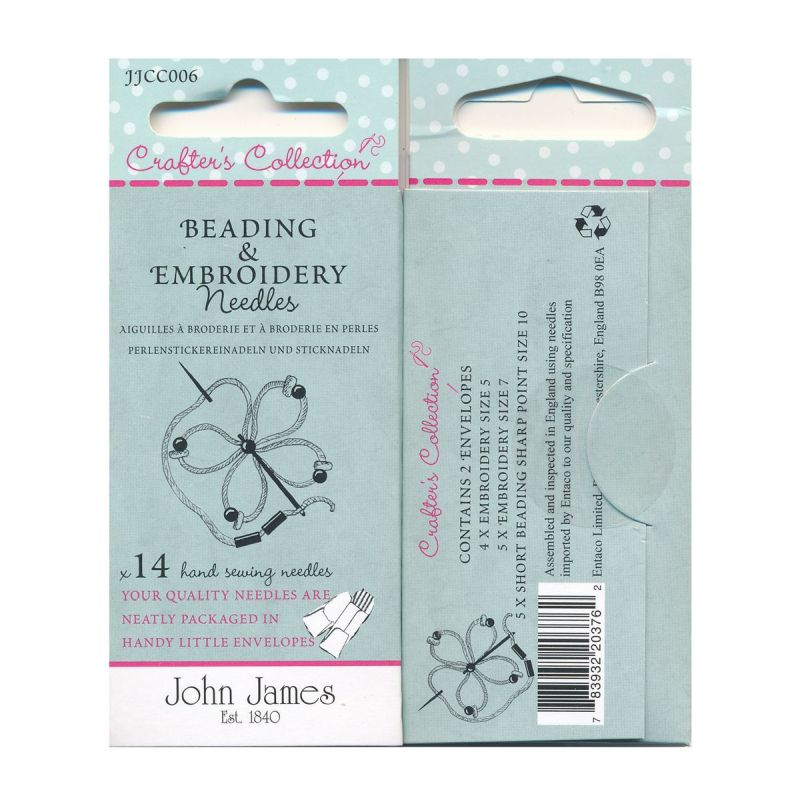 Beading & Embroidery 14 Hand Sewing Needles