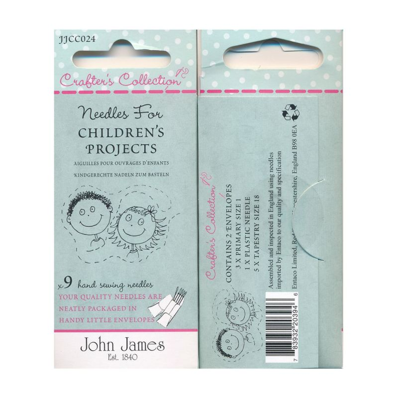 Childrens Project Needles 9 Hand Sewing Needles
