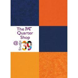 Blue and Orange Patchwork...