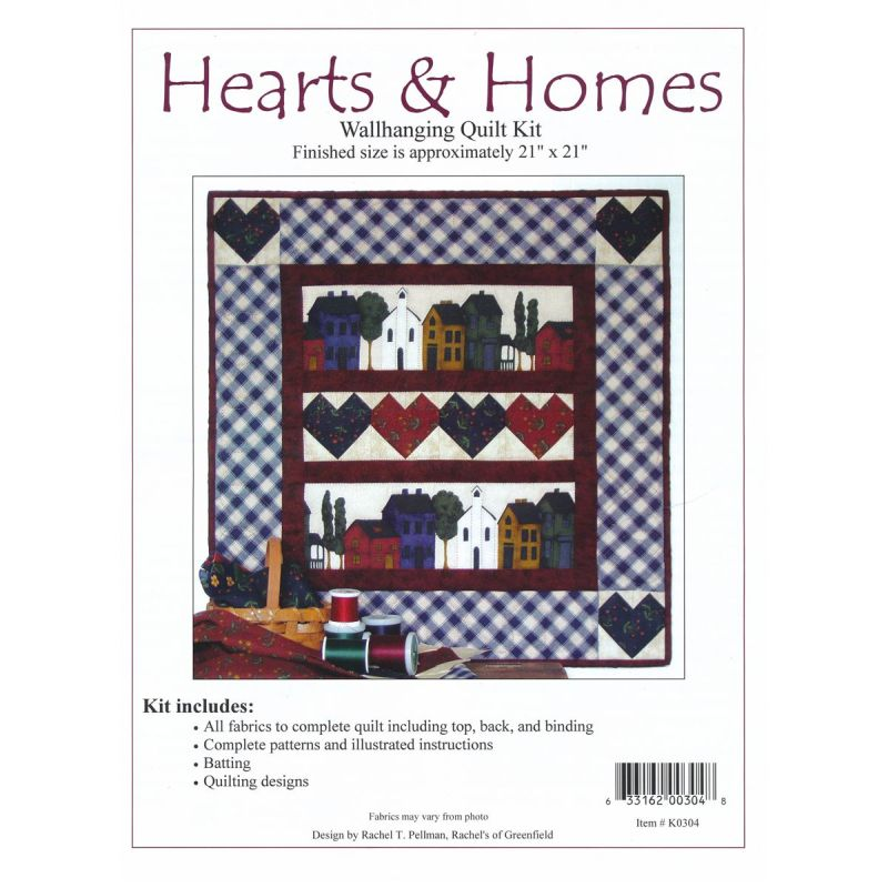 Hearts and Homes Wall Quilt Kit