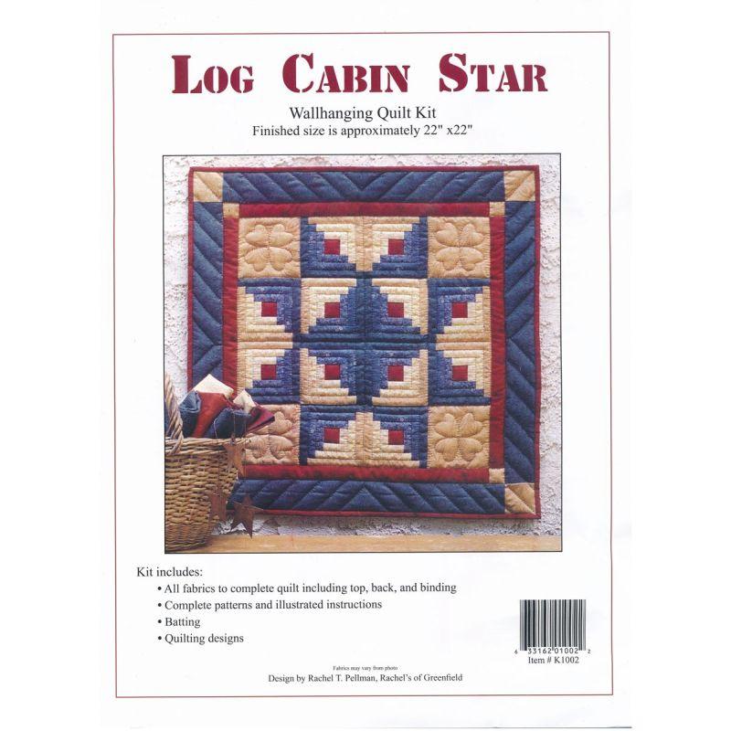 Log Cabin Star Wall Quilt Kit