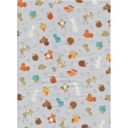 Forest Animal Scatter Grey