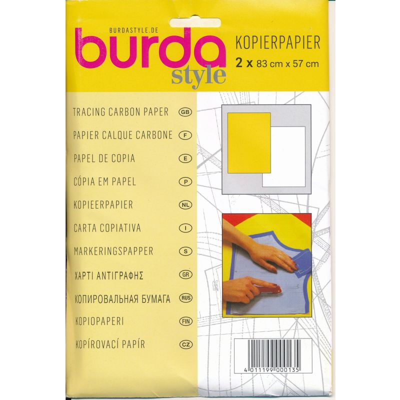 Burda Carbon Paper 83cms x 57cms 2 Sheets