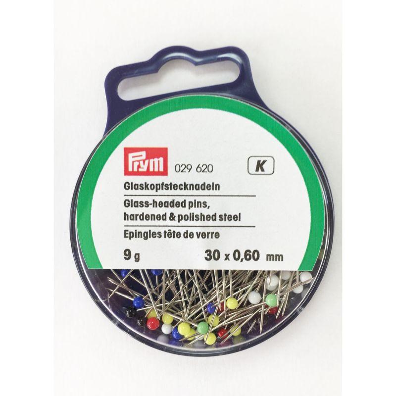 Prym Glass Headed Pins 0.6mm x 30 Pins